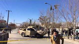 Emergency Services Respond as Dozens Killed in Suspected Suicide Bombing in Kabul - Video