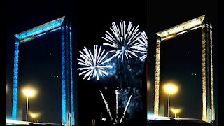 """Fire Work At World Largest Frame """"DubaiFrame"""" New Year 2021"""