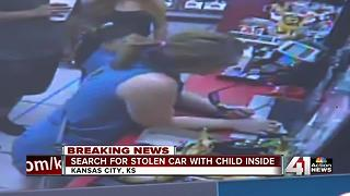 Police search for stolen car with 3-year-old inside - Video