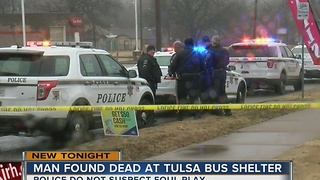 Man's body found at north Tulsa bus stop - Video