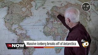 Massive iceberg breaks away from Antarctica - Video