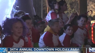 Oshkosh lights up for 34th Holiday Parade - Video