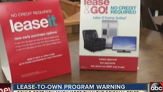 Lease-to-own programs could be more expensive than owning - Video