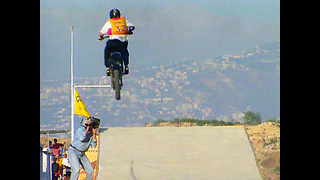 Lebanon Motorbike Jump Into Sea - Video