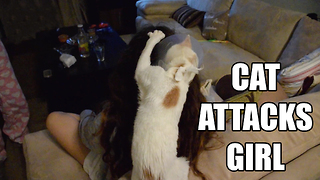 Cat Attacks Girl - Video