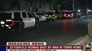 Woman hospitalized after being shot by man in Tempe - Video
