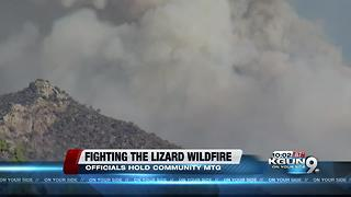 Residents attend meeting regarding Lizard Fire - Video
