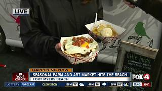 Season farm and art market opens on Fort Myers Beach - 8:30am live report - Video