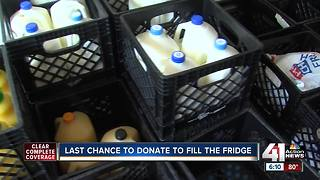 Generous community members help fill the fridge - Video