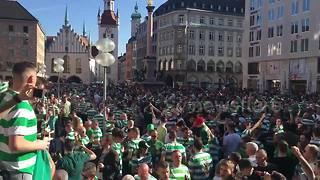 Celtic fans turn Marienplatz into sea of green and white - Video