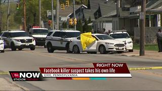 Facebook murder suspect led PA state police on pursuit, shot and killed himself - Video