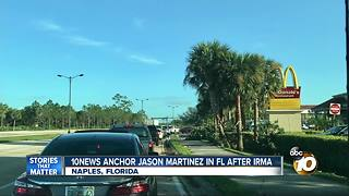 10News Anchor in Florida after Irma - Video