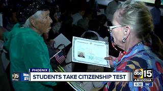 Students take citizenship test in Valley - Video