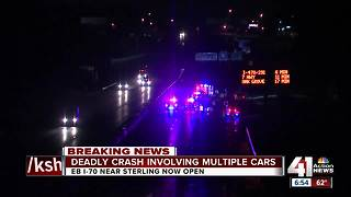 I-70 back open after deadly early-morning crash - Video