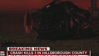 Crash kills one in Hillsborough County