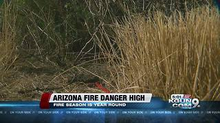"""""""Fire Season"""" is year-round in Southern Arizona, officials say"""