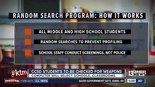 Clark County School District to conduct random searches to reduce guns on campuses