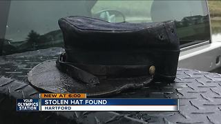 Fallen Hartford officer's stolen cap found - Video