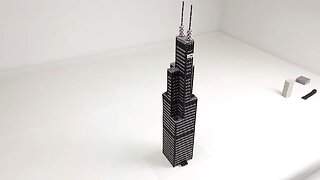 MAGNET EXPERT RE-CREATES CHICAGO'S WILLIS TOWER USING MAGNETIC BALLS