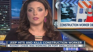 Construction worker hit, killed by car - Video