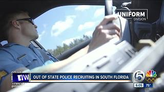 Out of state police recruiting in South Florida - Video