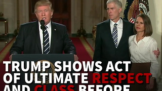 Trump Shows Act Of Ultimate Respect And Class - Video
