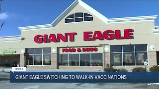 Giant Eagle Pharmacy to begin walk-in COVID-19 vaccinations