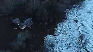 Drone Video Shows Flooding in Connecticut Due to Housatonic River Ice Jam - Video