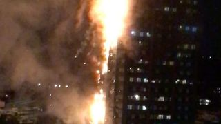 Huge Blaze Erupts at West London Tower Block - Video