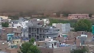 Wall of Dust Sweeps Over North Indian City - Video