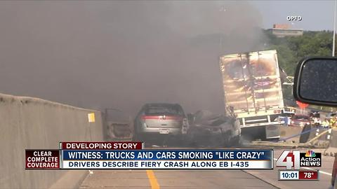 Traffic accident causes fire in Overland Park