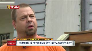 Numerous problems with city-owned lot - Video