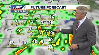 Rain showers make for soggy weekend