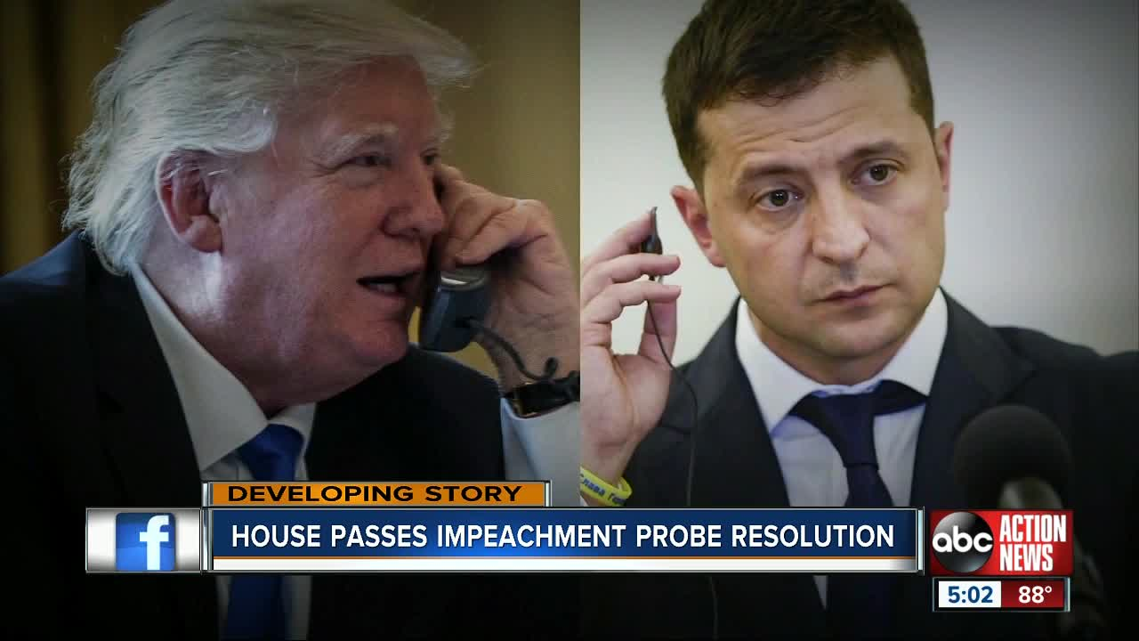 House passes impeachment probe resolution