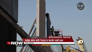 Judge sides with Trump in border wall case - Video