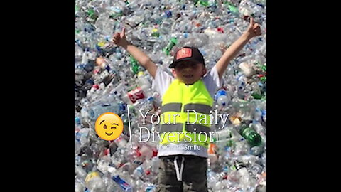 Stress Reducer! The Daily Diversion is 9-Year Old with Recycling Empire