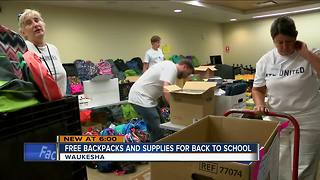 Waukesha residents donate stocked backpacks with the United Way - Video