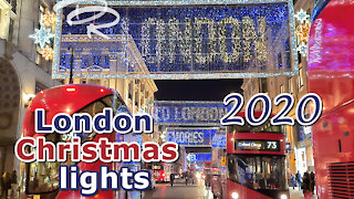 Top London 2020 Christmas lights & store windows