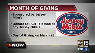 Grab a bite and help Phoenix Children's Hospital on Jersey Mike's Day of Giving - Video