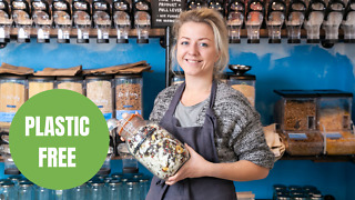 A shop owner has opened her first eco-friendly premises