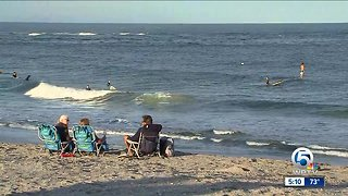 Several Palm Beach County beaches closed to swimmers