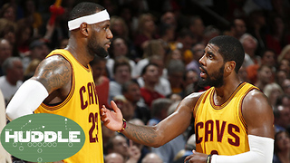 LeBron James PUSHING Kyrie Out of Cleveland -The Huddle - Video
