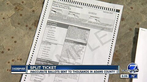 Around 17K ballots sent to Aurora voters in Adams County contain error