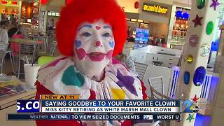 Miss Kitty retiring as White Marsh Mall clown - Video