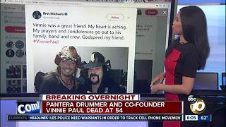Pantera drummer and co-founder Vinnie Paul dead at 54 - Video