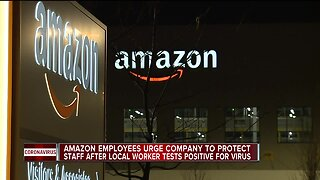 Amazon employees urge company to protect staff after local worker tests positive for virus