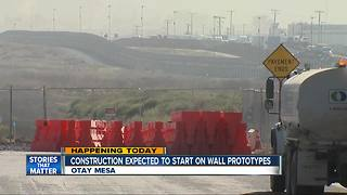 Border wall prototype construction to start - Video