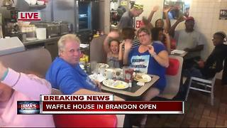 Waffle House in Brandon reopens after Hurricane Irma - Video