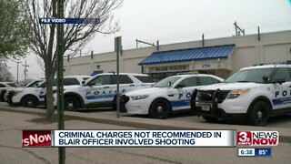 Criminal charges not recommended in Blair officer-involved shooting