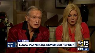 Valley playmate mourns death of Hugh Hefner - Video
